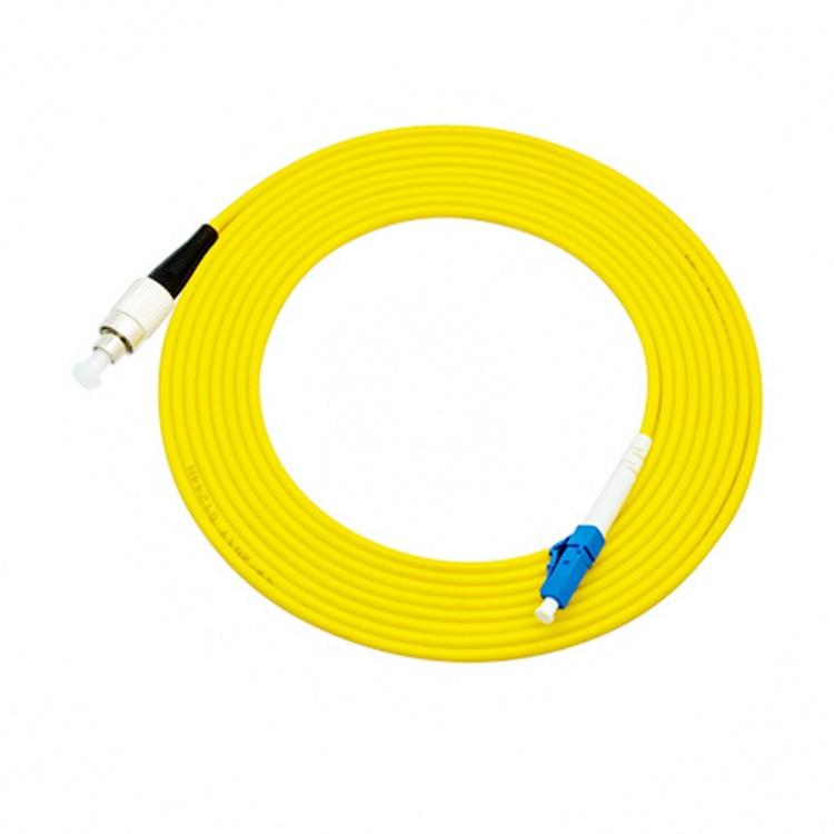 10 unids/bolsa FC/UPC-LC/UPC simple modo de parche de fibra óptica Cable 3,0mm