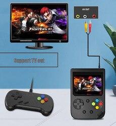 Vídeo game retrô portátil 8-bit, 3.0 Polegada cores, lcd, crianças, player de jogos embutido em 500 jogos