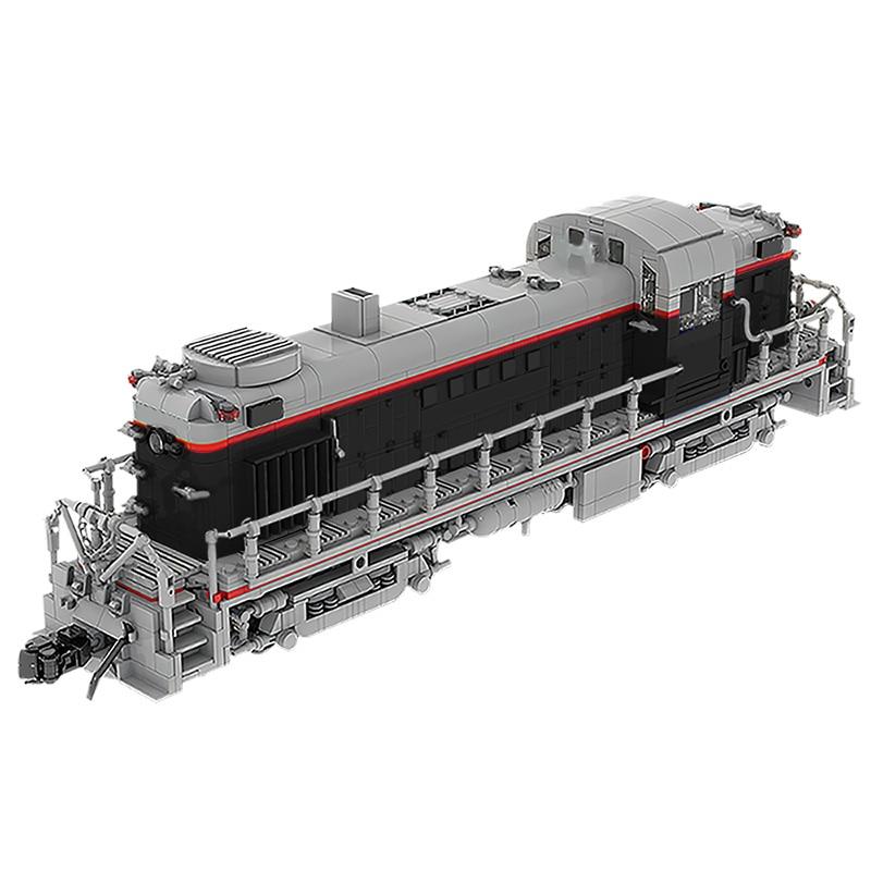 MOC Diy قطار محطة الاتحاد المحيط الهادئ السكك الحديدية Alco RS-2 (1:38) عالية-التكنولوجيا السكك الحديدية DIY بناء كتل الطوب لعبة للأطفال هدية
