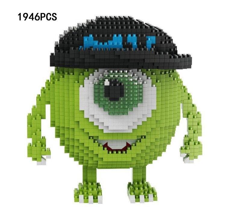 Classic United States cartoon Monsters building bricks Mr. Q Michael Wazowski micro diamond block Mike nanobricks toys for gifts