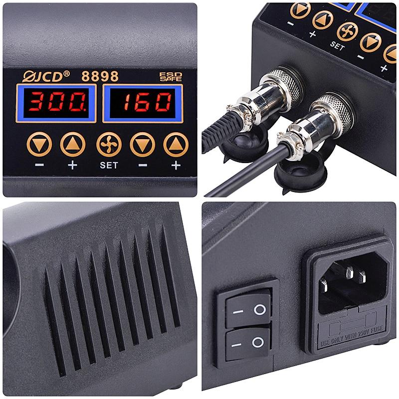Pistola de aire caliente 2 en 1 de 750 W con pantalla digital LCD, - Herramientas eléctricas - foto 6