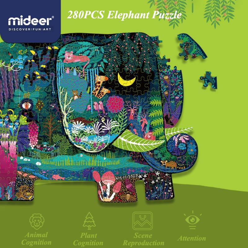Stunning elephant-shaped puzzle. 280 parts