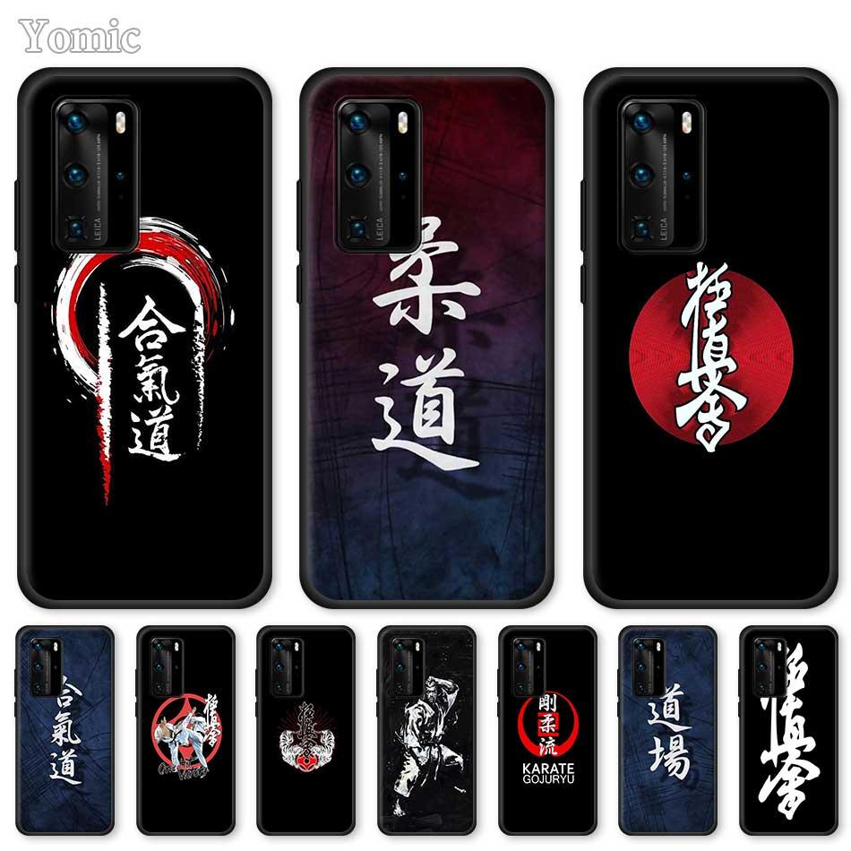 Funda de silicona con símbolo de kárate Kyokushin para Huawei P30 P40 Lite E P10 P20 Pro P Smart Z Plus 2019, funda negra suave para teléfono