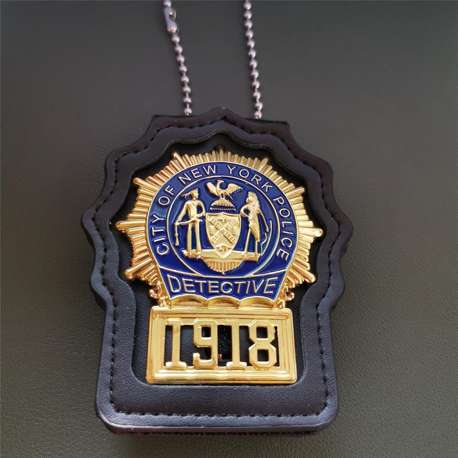 Значок-детектива-Нью-Йорка-США-серийный-1918-реквизит-коллекция-1-1