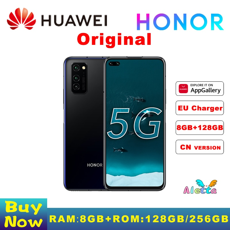 Original Honor V30 Pro SmartPhone 5G 8GB RAM 128 ROM 6.57 inch Kirin 990  SOC Octa Core Android 10 NFC 40W SuperCharge