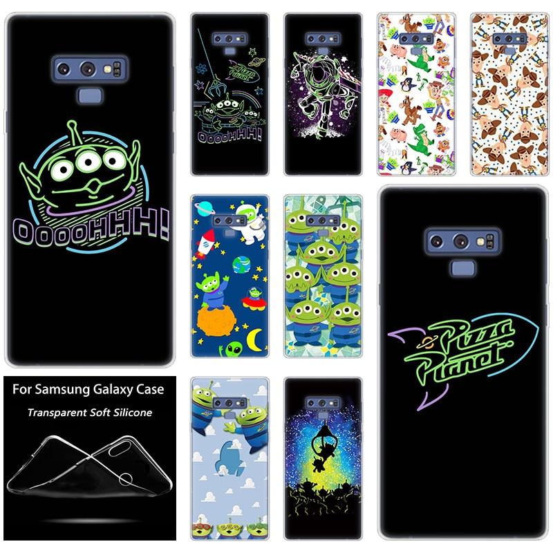 Caso luxo Silicone Toy Story 10 Pizza Planet Para Samsung Galaxy Nota Pro 9 8 M10 M20 M30 M40 S8 s9 S10 Plus 5G S6 S7 Borda S10e