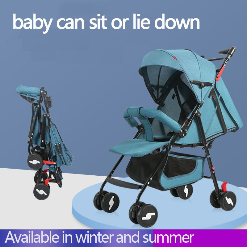 Baby Stroller Light Portable Pram Stroller For Travel Folding Baby Carriage Car Anti-shock Trolley and accessories BBSONG enlarge