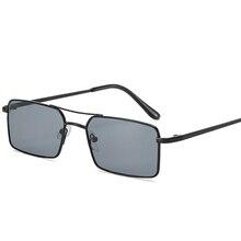 2020 Square Women Sunglasses Alloy Metal Small Frame Clear Double Men's Sun Glasses Women Vintage Ch