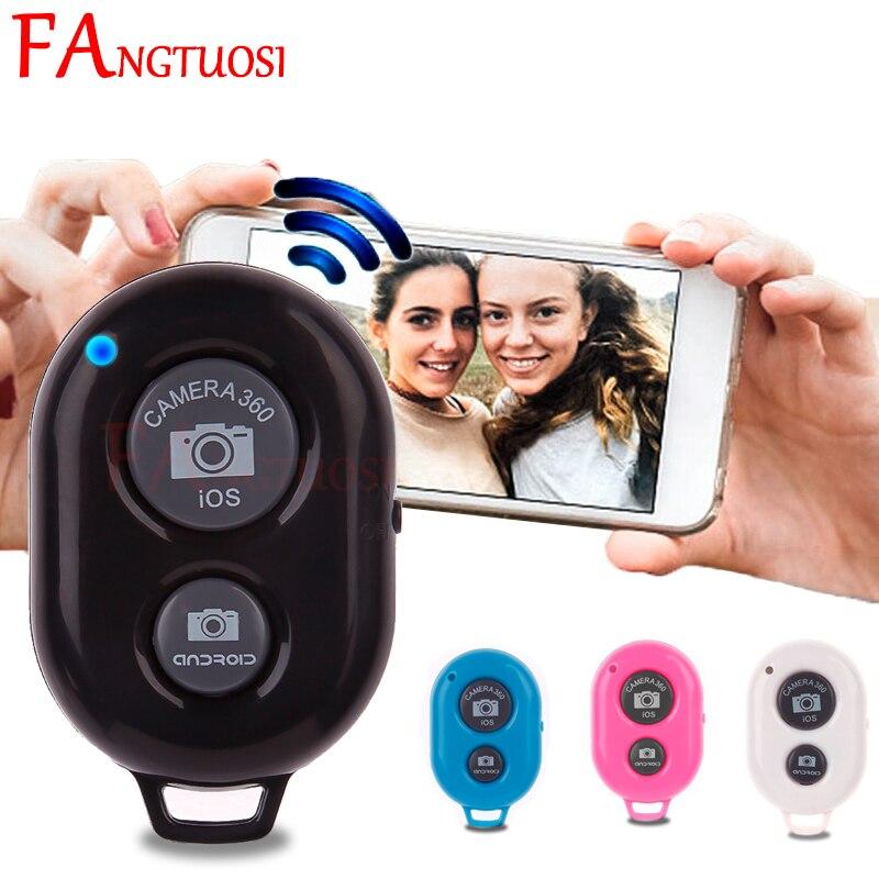 FANGTUOSI obturador inalámbrico control remoto teléfono botón temporizador Cámara controlador adaptador foto control para iPhone Android IOS