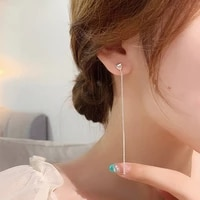 simple long earrings personality new chic jewelry temperament korean earings wholesale