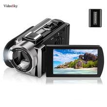 Video Kamera Camcorder Digital YouTube Vlogging Kamera Recorder FHD 1080P 24MP 270 Grad Rotation 16X Digital Zoom Recordor