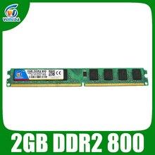 Mémoire VEINEDA ram ddr2 2gb 800mhz ram PC2 6400 pour carte mère Intel et AMD compatible avec 667, 533