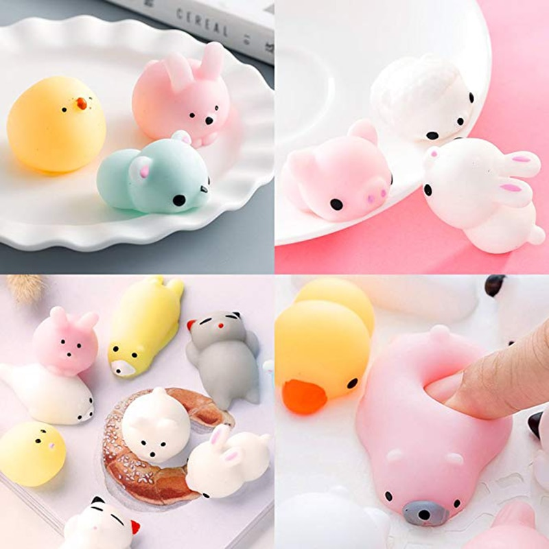 30 Pcs Squishies Mochi Animals Stress Toys Mini Animal Squishy Stress Relief Animal Toys Squeeze Toys enlarge