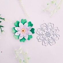 Belle fleur dart de lotus   Moule à découper en métal, pour album à faire soi-même, moule artisanal de relief, pour album photo album