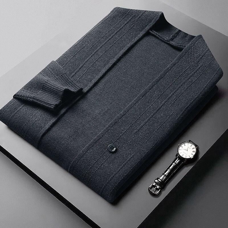 Abrigo-Chaqueta de punto estilo inglés para Hombre, cárdigan de diseñador de marca...