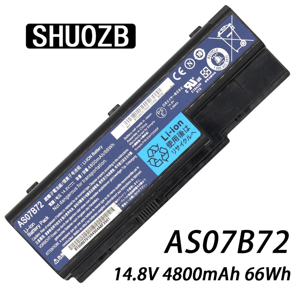Batería para ordenador portátil, AS07B72 AS07B31 AS07B41 AS07B42 para Acer Aspire 5520, 5720, 5920, 6920, 6920G 7520G 7720 a 7720G 7720Z Serie CONIS72 nuevo