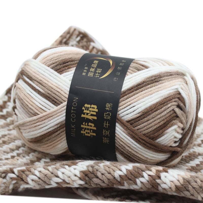 10 bolas 100g algodão macio lote de 7ply colorido tricô volumoso mão grossa chunky crochê suéter atacado fio ofício nova lã