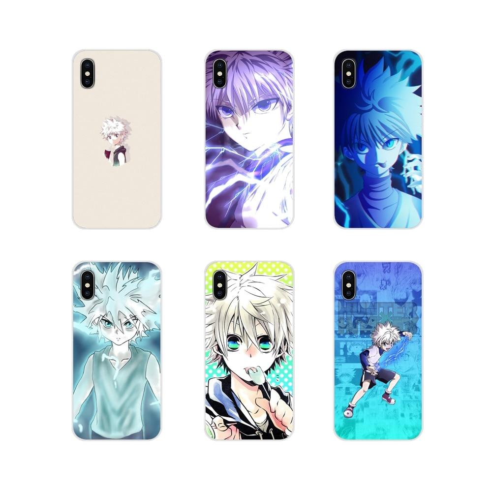 Hunter killua accesorios cubiertas de los casos del teléfono para iPhone X de Apple XR XS 11Pro MAX 4S 5S 5C SE 6 6S 7 7 Plus ipod touch 5 6