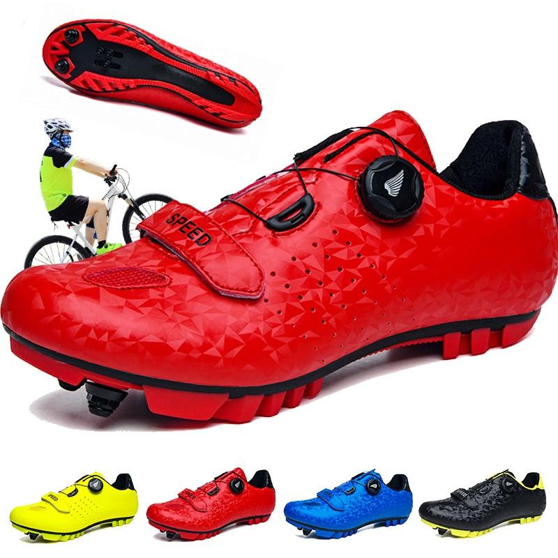 MTB zapatos de Ciclismo Sapatilha Ciclismo SPD hombres zapatillas de deporte de carretera zapatos de bicicleta de auto-bloqueo Superstar Original deportes mujeres zapatos de bicicleta