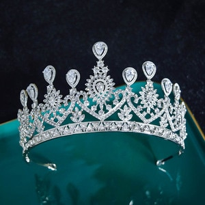 Vintage Crystal Rhinestone Bridal Wedding Crown Bling Tiara with Side Comb Silver