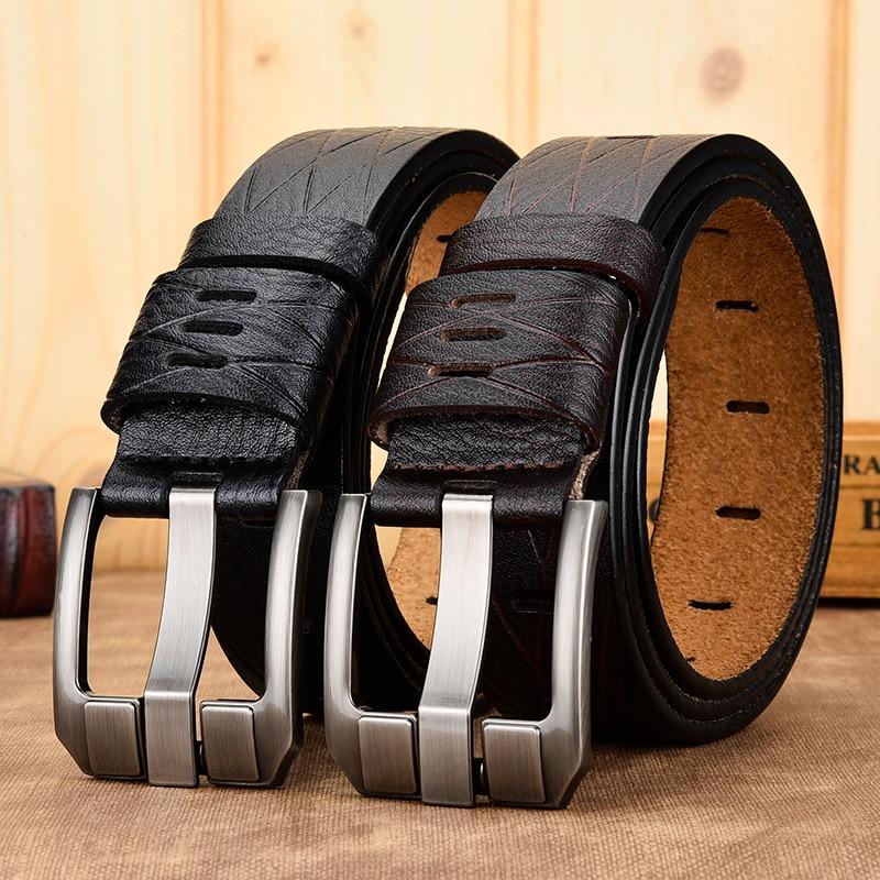 Hevillas De Cinturones De Hombre ceinture en cuir pour hommes large boucle ardillon marque De commerce extérieur en cuir sculpté ligne ceinture ceinture en jean