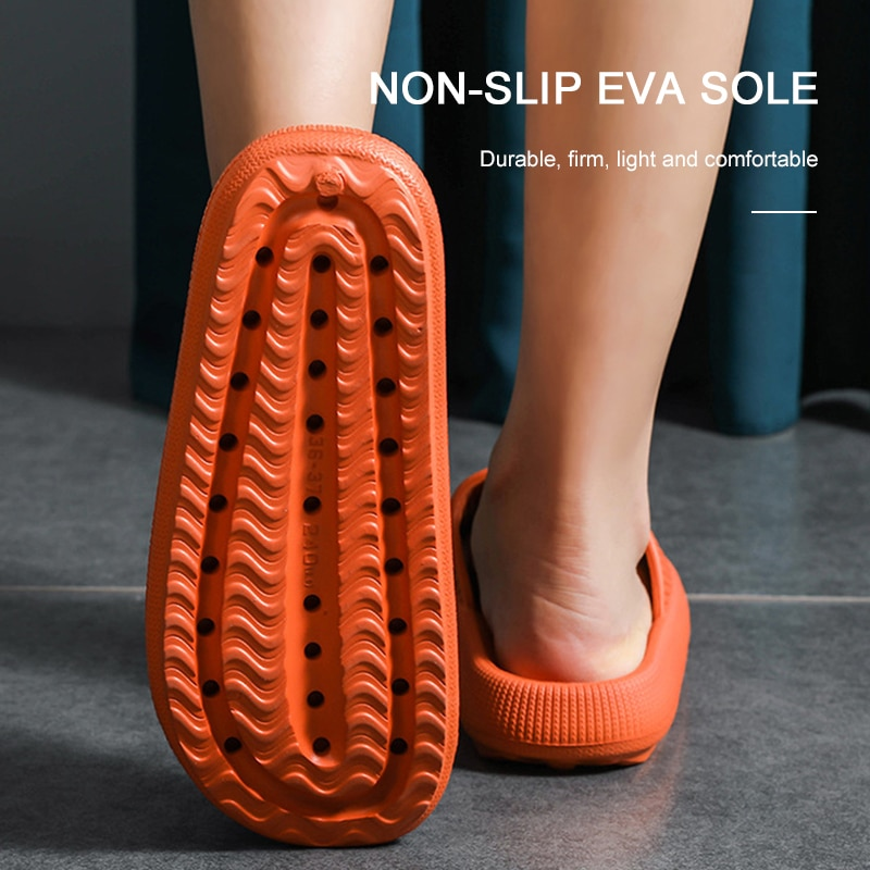 Indoor Comfortable Soft Slippers Men Women Non-slip Bathroom Home Shoes Flat EVA Living Room Thick Sole Slides Women's Sandals