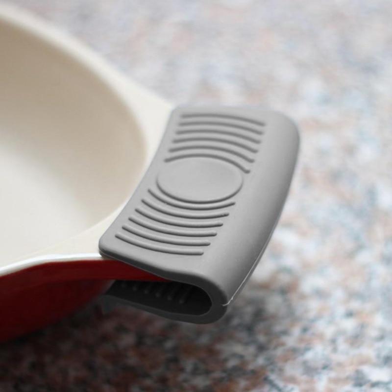 Силиконовый держатель для горшка, рукав, перчатка, сковорода, ручка, крышка, ручка, кухонные инструменты