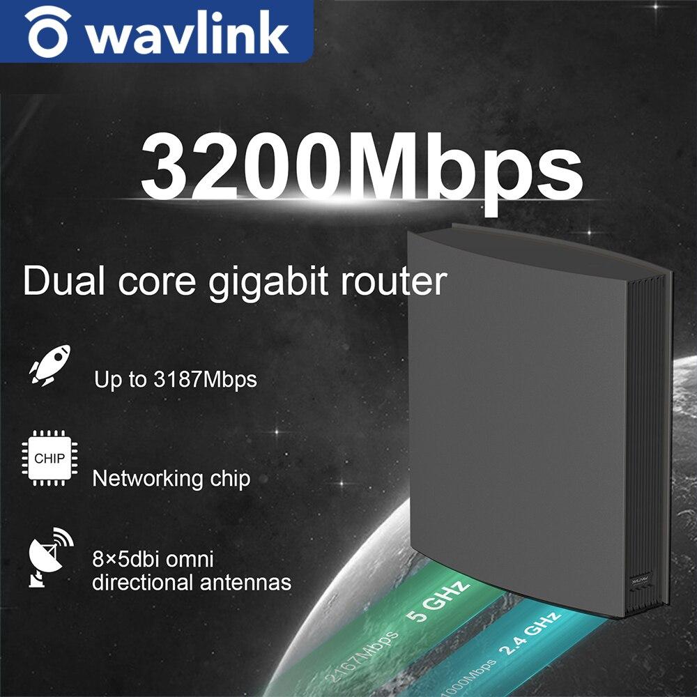 Wavlink AC3200 умный WiFi роутер двухдиапазонный MU-MIMO гигабитный роутер для дома беспроводной Repeate до 3200 Мбит/с 8 * 5dBi антенны