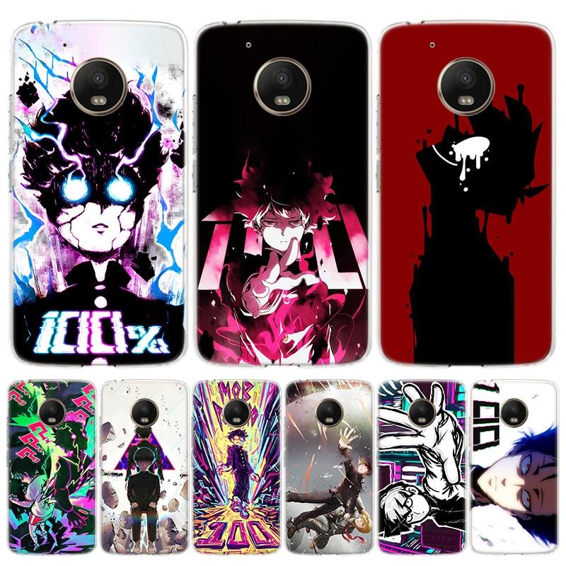 Mob Psycho 100 Anime Phone Case For Motorola Moto G7 G8 G6 G5S G5 E6 E5 E4 Plus Power G4 One Action X4 EU Gift Coque Cover
