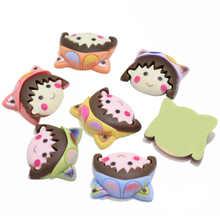 10 шт., смешанные миниатюрные кабошоны для девочек Kawaii, полимерные Кабошоны с плоской спинкой для телефона, украшения, скрапбукинг, сделай са...