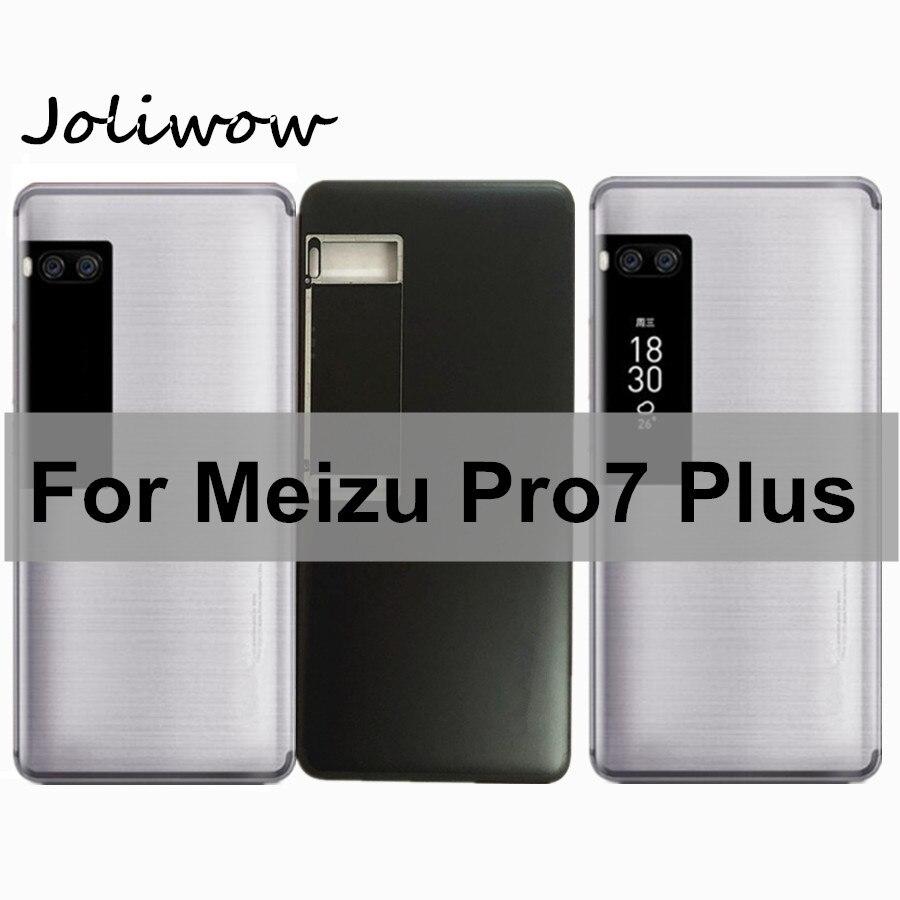 Carcasa para batería Meizu Pro7 Plus, con pantalla secundaria para Meizu Pro 7 Plus, carcasa para puerta trasera con botones laterales de encendido
