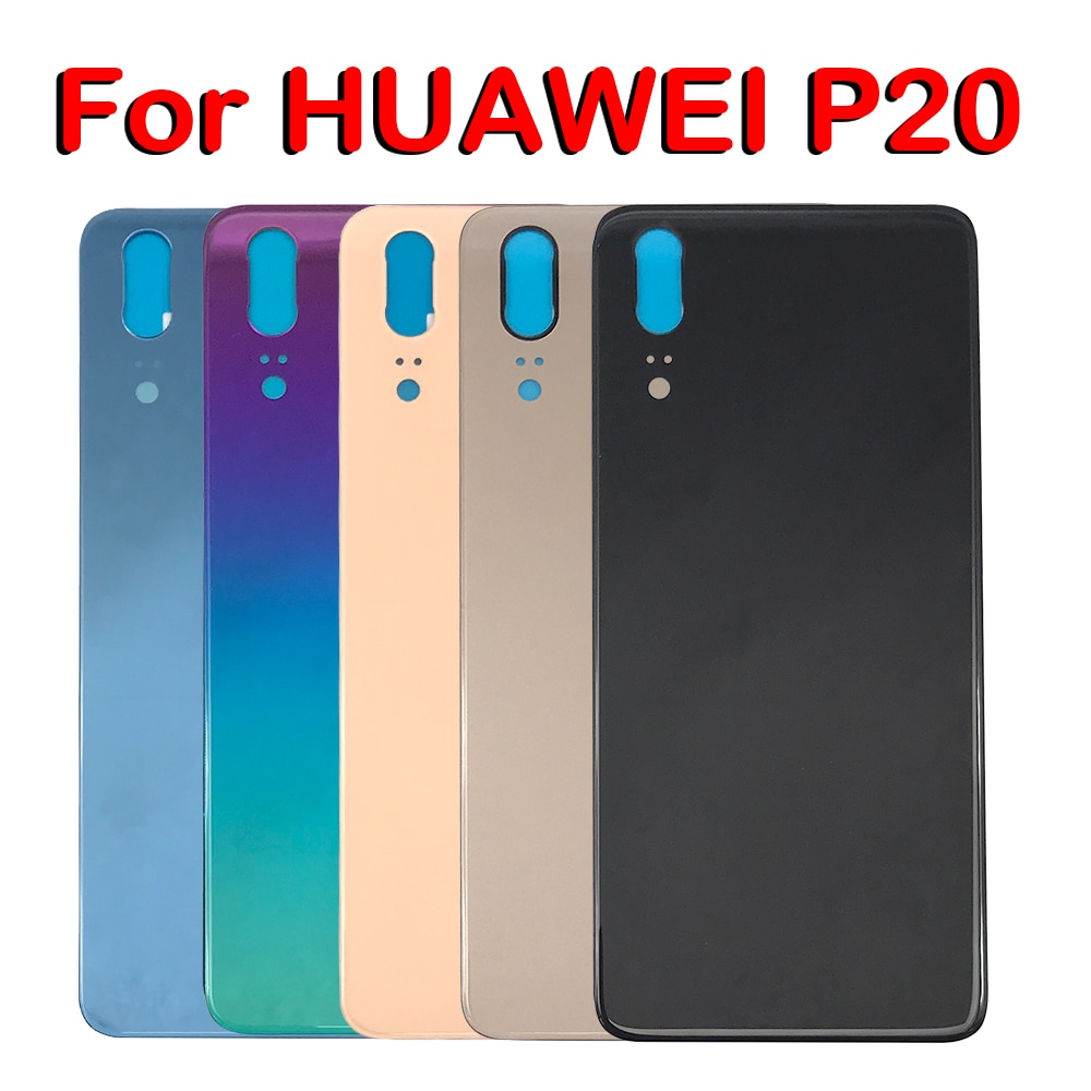 For Huawei P20 Back Battery Glass Cover Panel Rear Door Case For Huawei P20 Back Cover Housing With