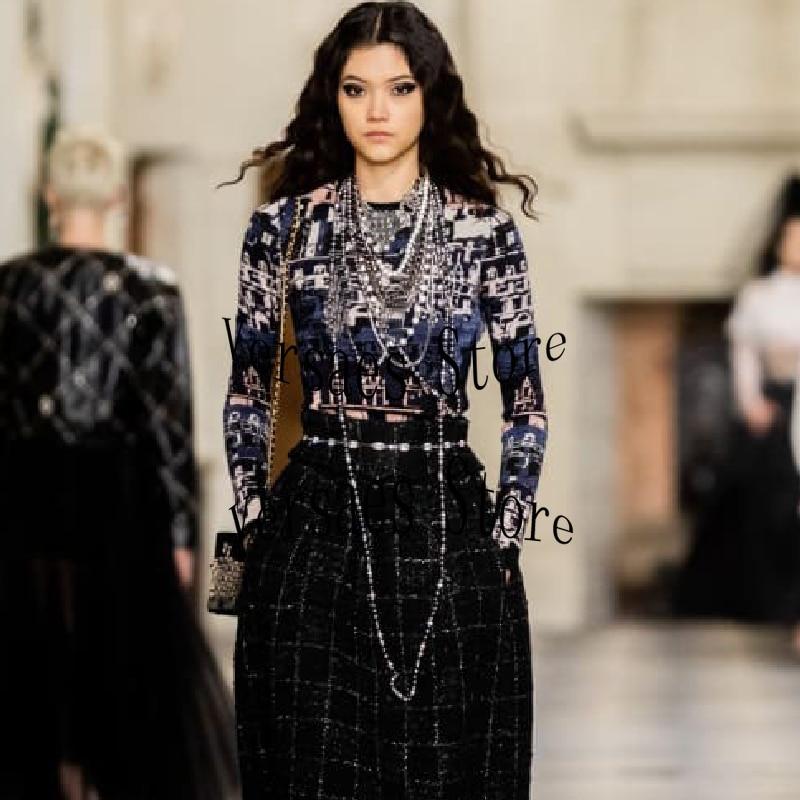 2021 luxury design Castle Vintage jacquard fashion women's long sleeve Pullover temperament versatile round neck knitted sweater
