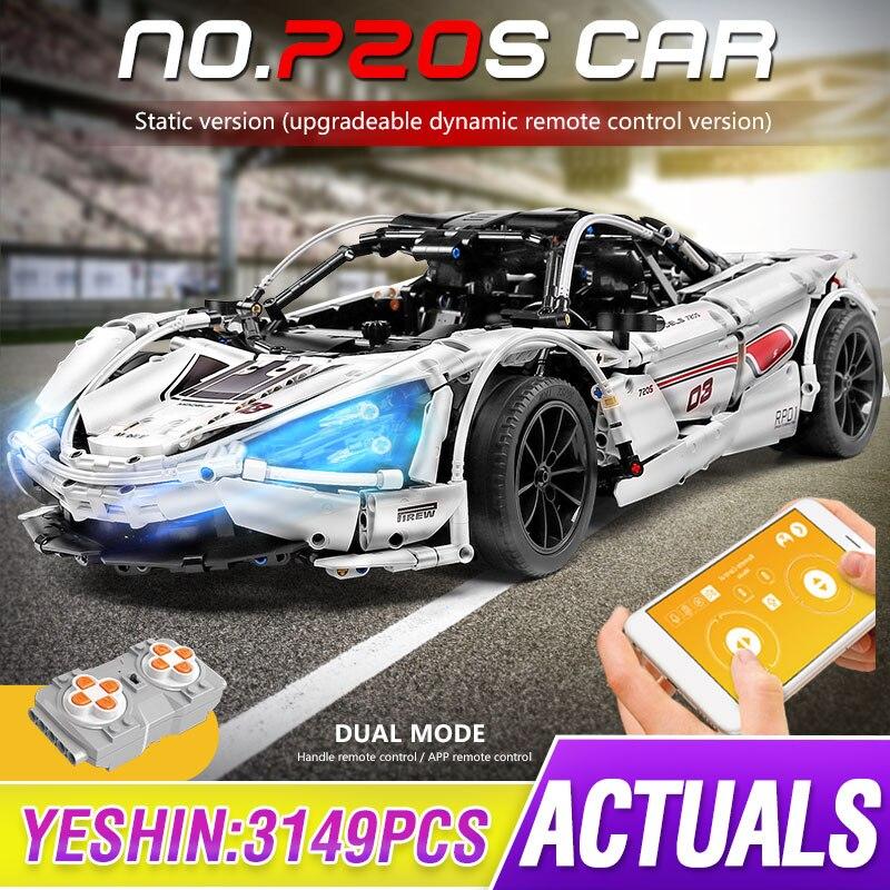 1 to 8 ratio Technic Series McLaren P1 720S Racing Car Set APP RC Model Building Blocks Power Motor Function Toys lepining 20087