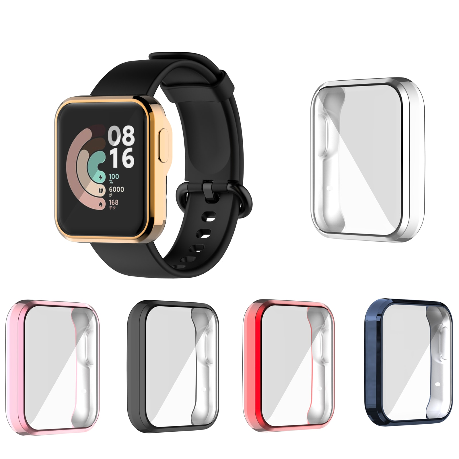 Plating TPU Protector Case For Xiaomi Mi Watch Lite Full Screen Protective Shell Cover for Mi Watch Lite ultra slim tpu watch case skin protective cover for xiaomi mi watch lite global version for redmi watch accessories