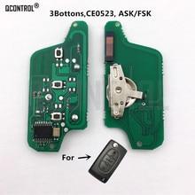QCONTROL монтажная плата дистанционного ключа для Peugeot 807 407 308 307 207 CC SW эксперт партнер Авто Дверной замок (CE0523 ASK/FAK) 3 кнопки