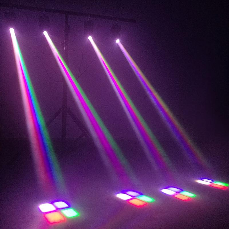 Светодиод луч 10 Вт RGBW пятно движение голова свет DMX контроллер для DJ дискотека Рождество вечеринка сцена освещение стробоскопы эффект