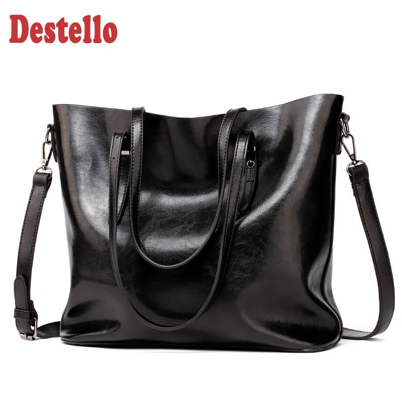موضة جلد بولي PU حقيبة كتف المرأة ريترو مقبض كبير حقيبة يد أنثى عادية عالية الجودة حقيبة اليد حقيبة ساعي للنساء