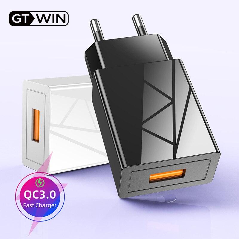 GTWIN cargador USB de carga rápida 3,0 cargador Universal de teléfono móvil adaptador de carga rápida para iPhone 11 pro Samsung Xiaomi 6