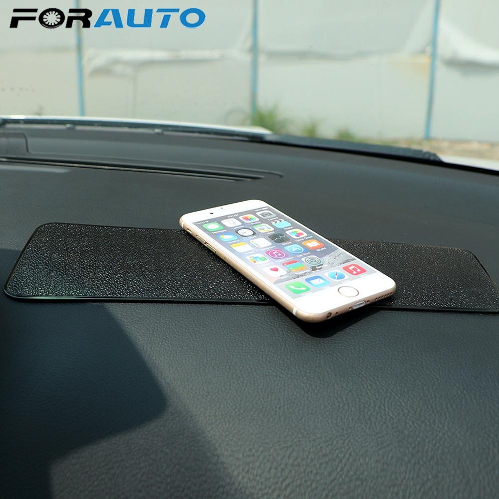 Anti-slip para teléfono auto Dashboard Sticky Pad Gel mágico no-soporte de alfombrilla antideslizante PU Interior del coche GPS textura de cuero negro