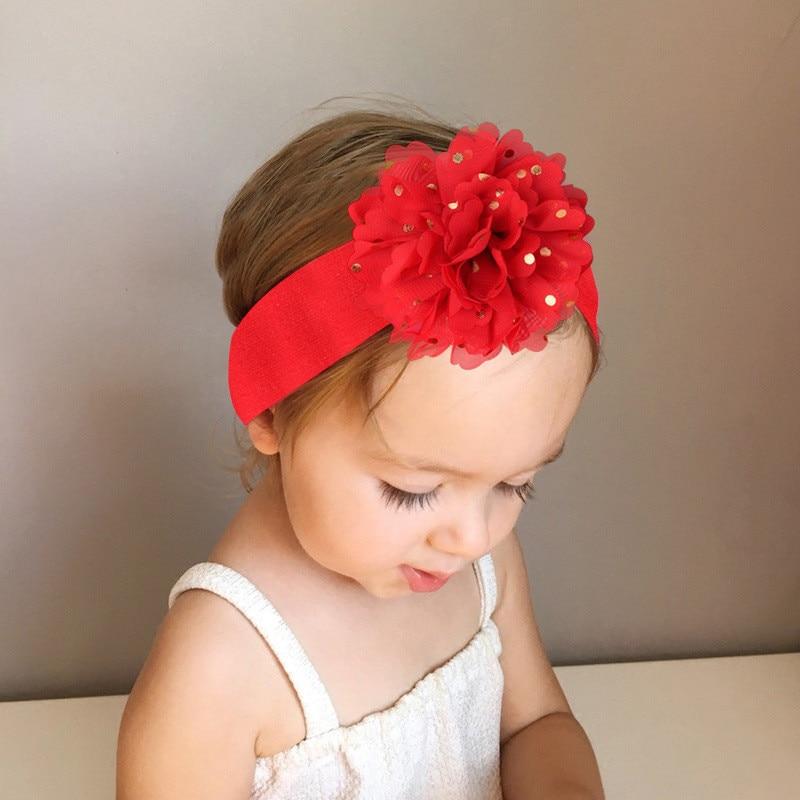 Gasa elástico recién nacido turbante diademas cinta de pelo de bebé diadema de bebé de encaje Nylon sólido bebé turbante sombrero