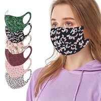 Adults Mascarillas Fast-Drying Reusable Colorful Fabric Face Durable Pattern Stylish Fashionable Neutral Washable Mask Lightweig
