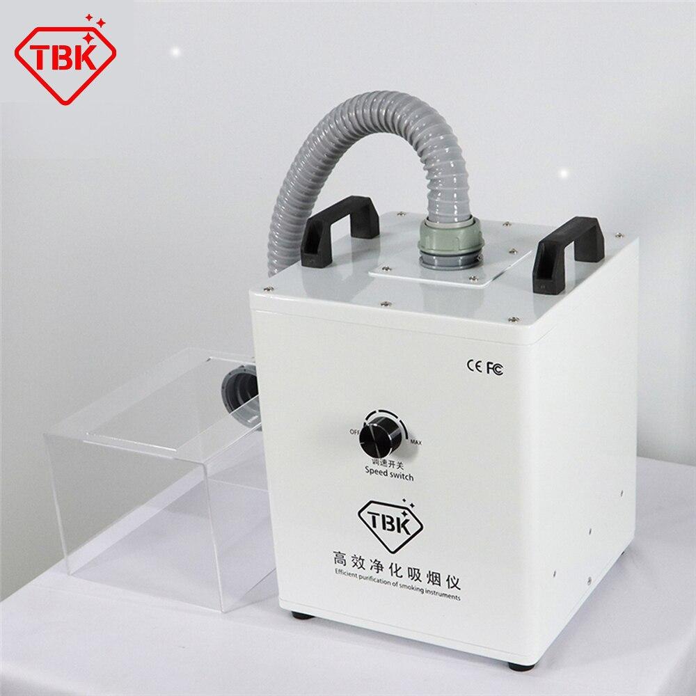 TBK 618 آلة استخلاص الدخان للعمل سبيكة لحام الليزر امتصاص الدخان صالون تجميل لحام رائحة تنقية المحمول لحام