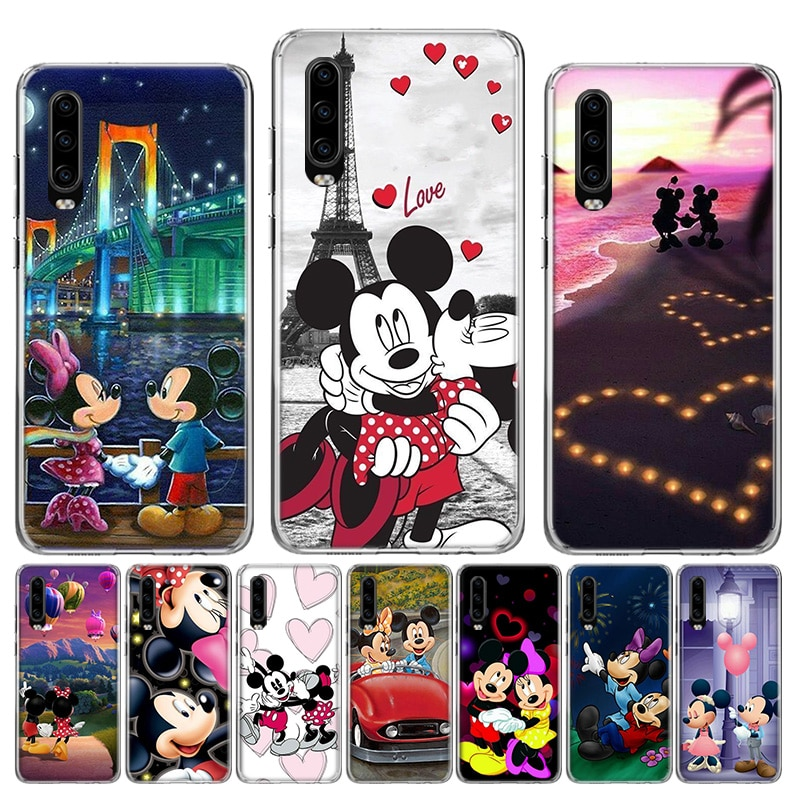 Cute Mickey Minnie Love Soft TPU Case For Huawei Honor 10 9 lite P Smart Z Plus 2018 8S 8X Y5 Y6 Y7 Y9 2019 Cover