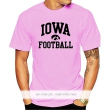 Iowa hawkeyes arco logo camisa de futebol t-ouro engraçado design camiseta