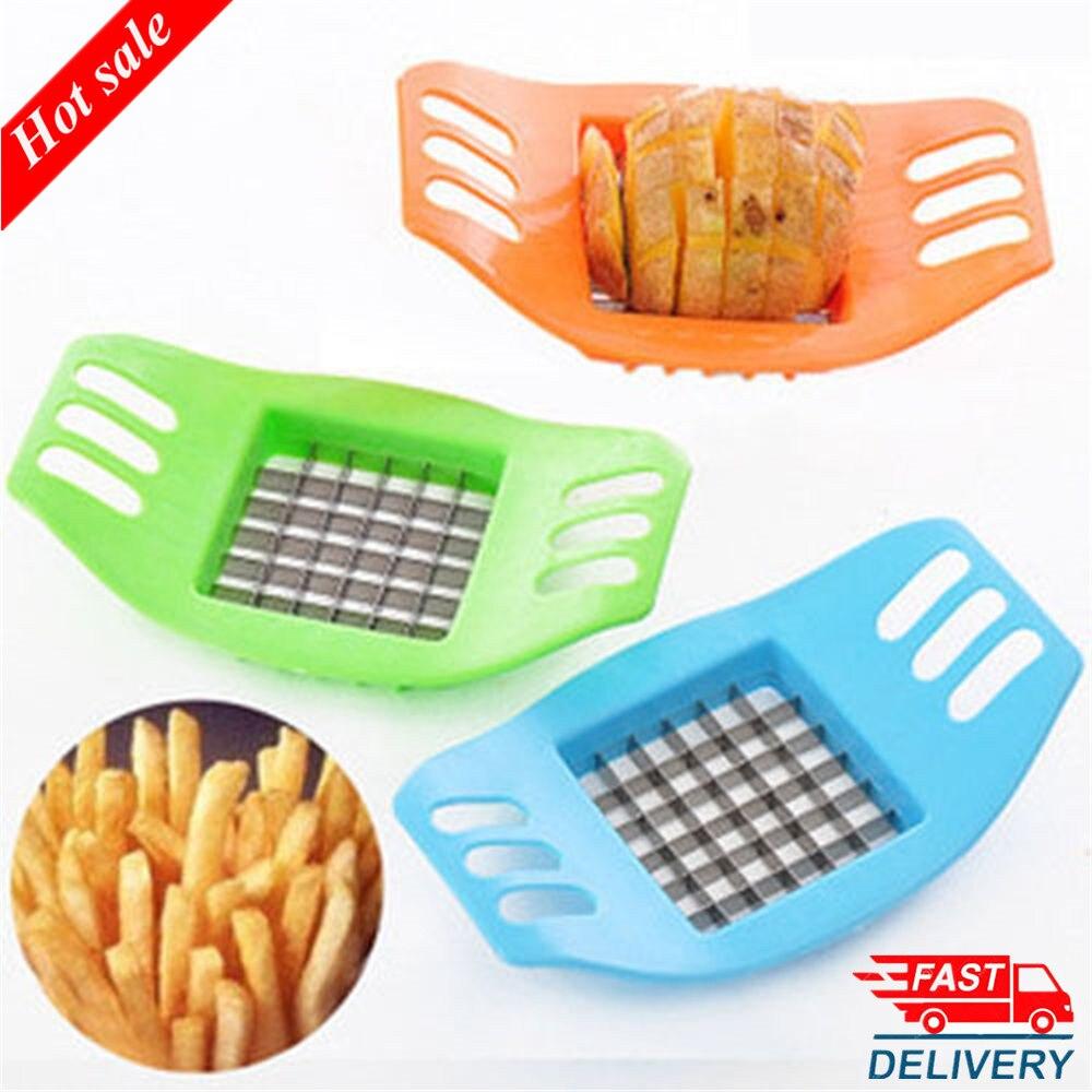1Pcs Practical Multi-purpose Potato Cutting Machine French Fry Fries Vegetable Fruit Slicer Kitchen Tools Random Color