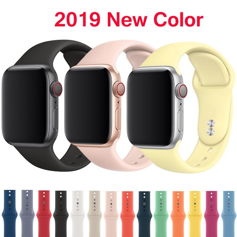 Correa für apple watch banda 4 3 correa iwatch banda 42mm/38mm 44mm/40mm 2 deporte silikon brazalete pulseira apple watch zubehör