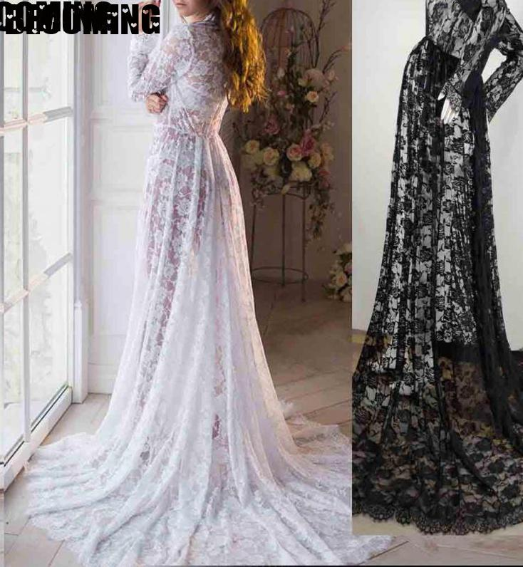 Pregnant Womens Lace Maternity Maxi Dress Gown Photography Props Party Wedding 1700888 enlarge