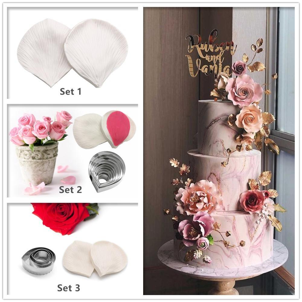 Molde de flor en silicona para decoración de pasteles, molde para pasta de goma y Chocolate, cortadores de azúcar