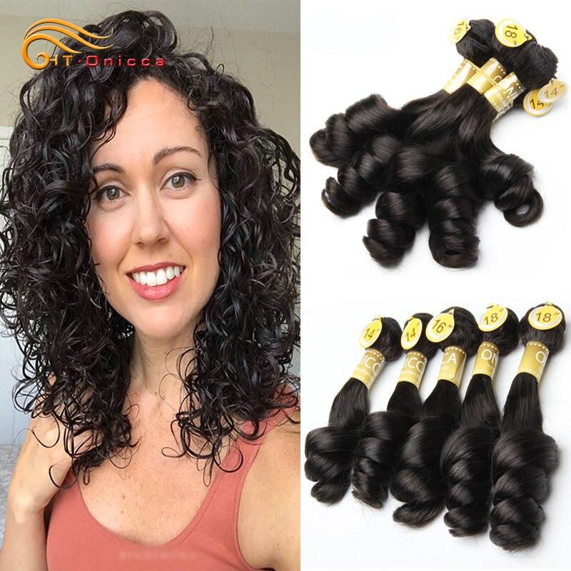 Бразильские человеческие волосы, свободные волнистые пучки с двойным рисунком, 5 шт./лот, волосы для наращивания без повреждений, яйца, волни...